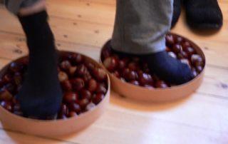 Fußreflexzonentherapie mit Rosskastanien